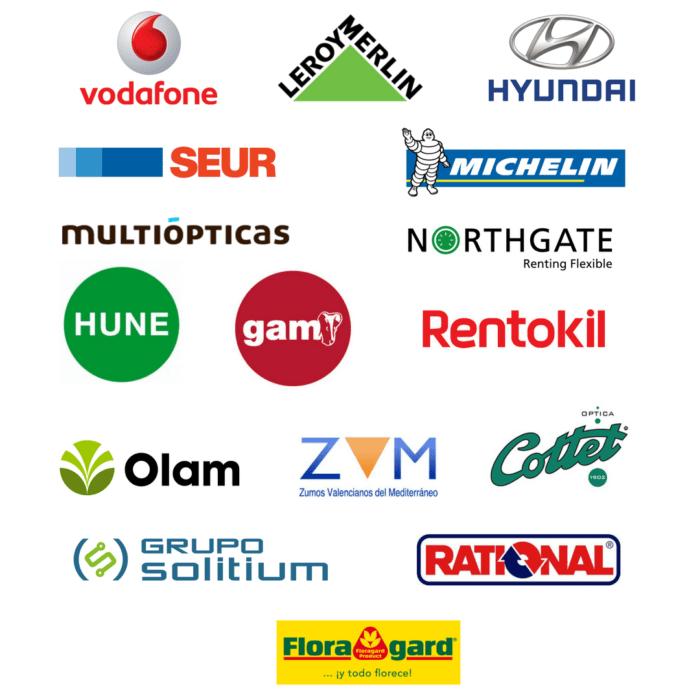 Comunidad Comercial logos empresas